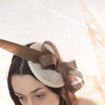 tocado Turbante tipo casquete para ceremonias