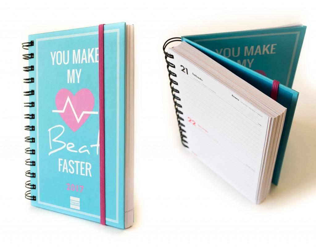 Agenda You make my heart beat faster - Finocam (Librería Platero)