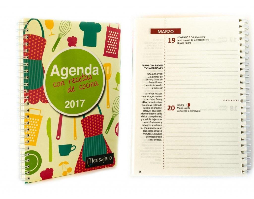 Agenda con recetas de cocina - Mensajero