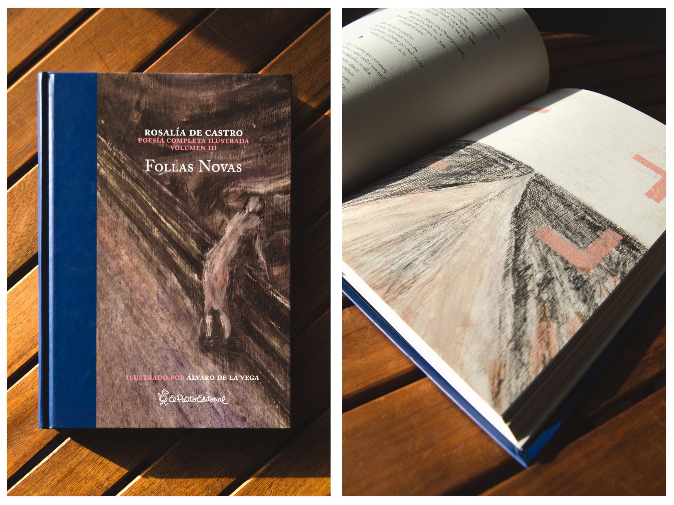 Libro Follas novas ilustrada - Rosalía de Castro