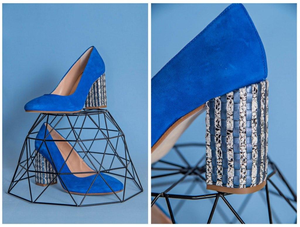 Zaptos tacón Azules -World Shoes