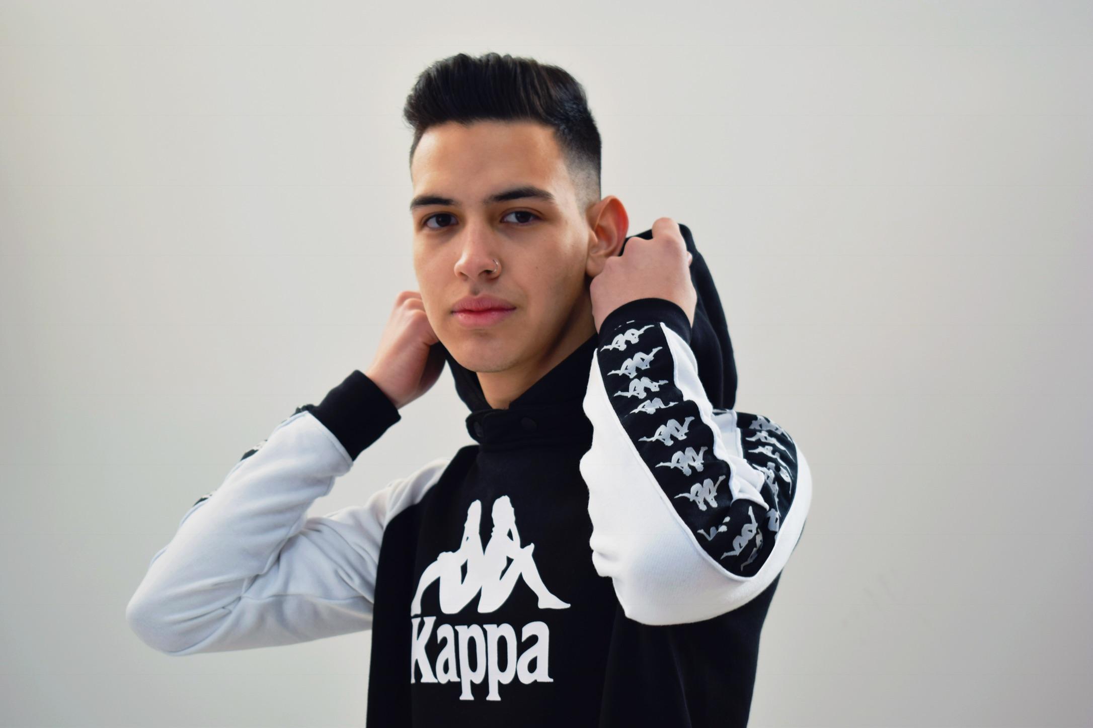 Sudadera Kappa negra y blanca 4elementos ourense