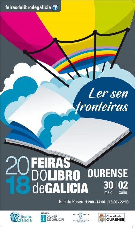 Feira do libro de Ourense 2018 Cartel