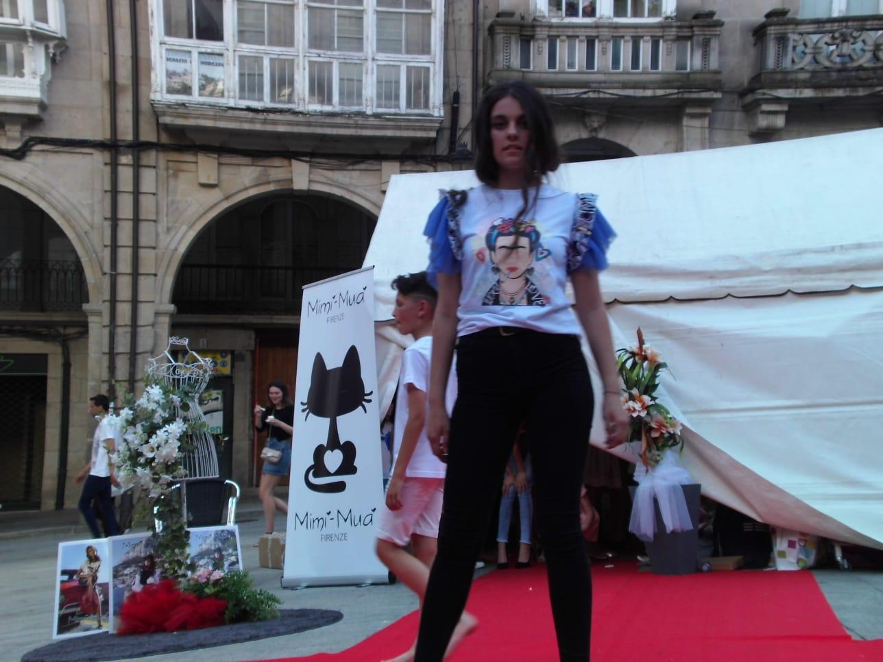 Desfile de moda plaza Mayor Ourense