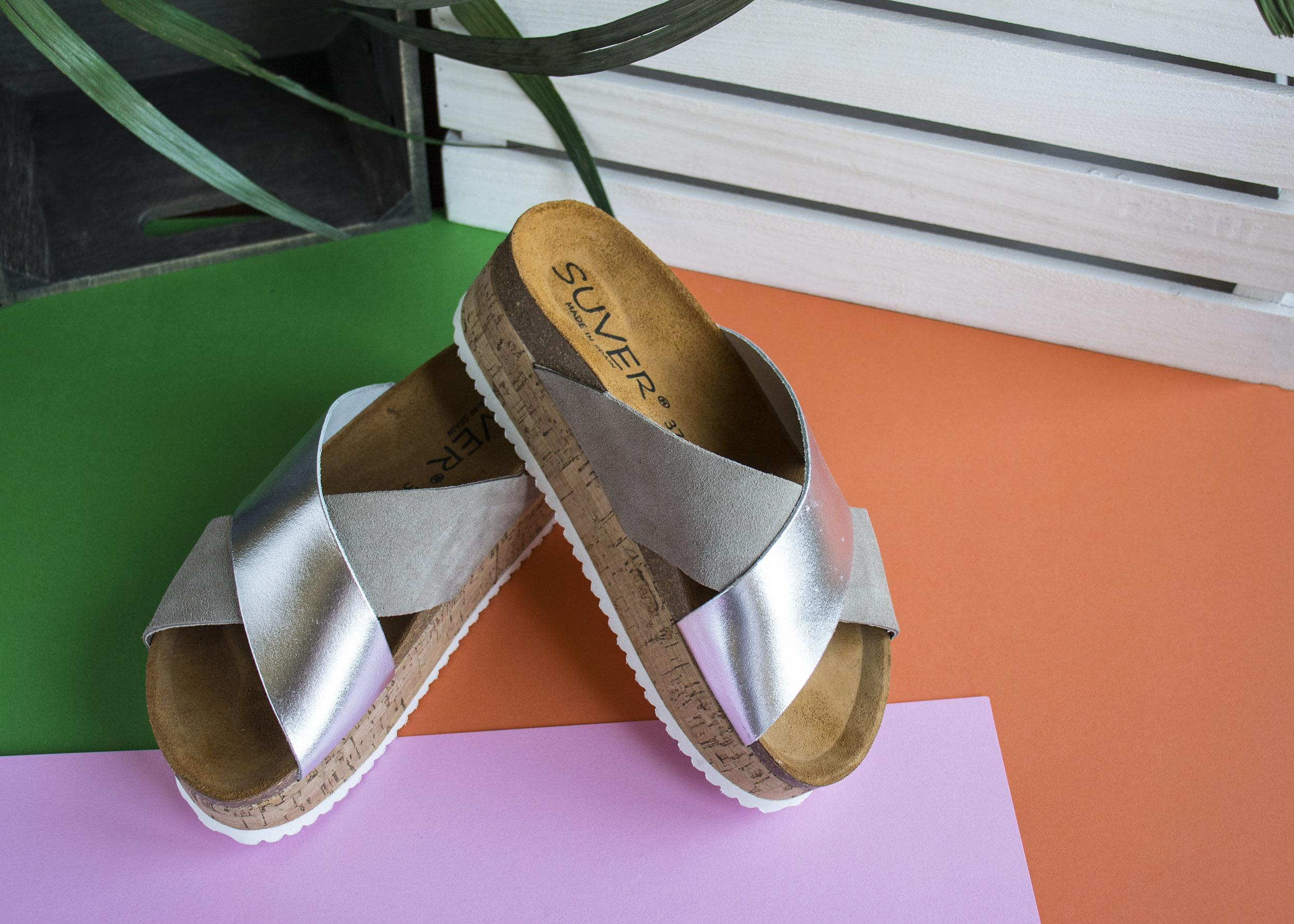 Sandalias estilo zueco de Suver