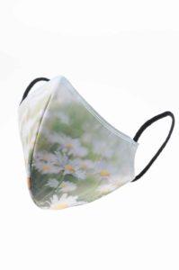 Mascarilla higienica reutilizable estampado margaritas flores