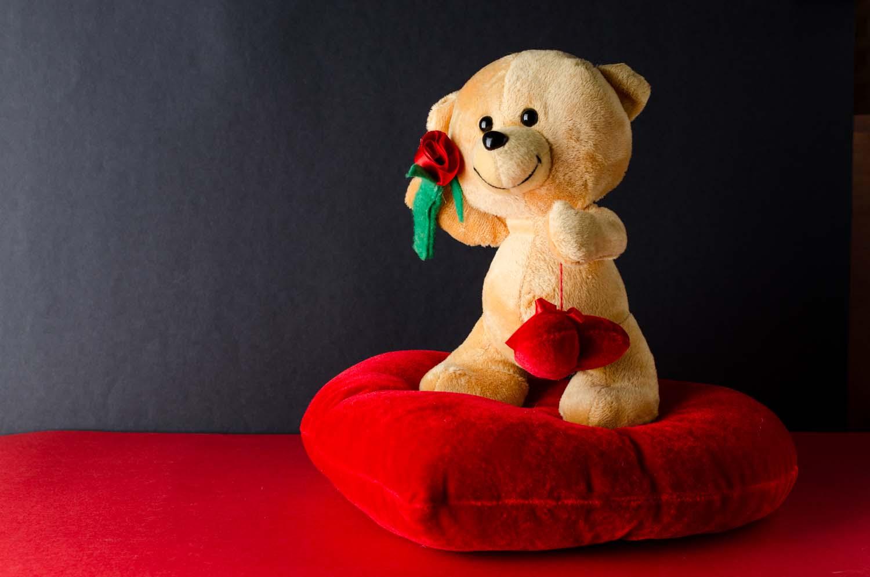 regalo san valentin oso de peluche con corazon y rosa-1