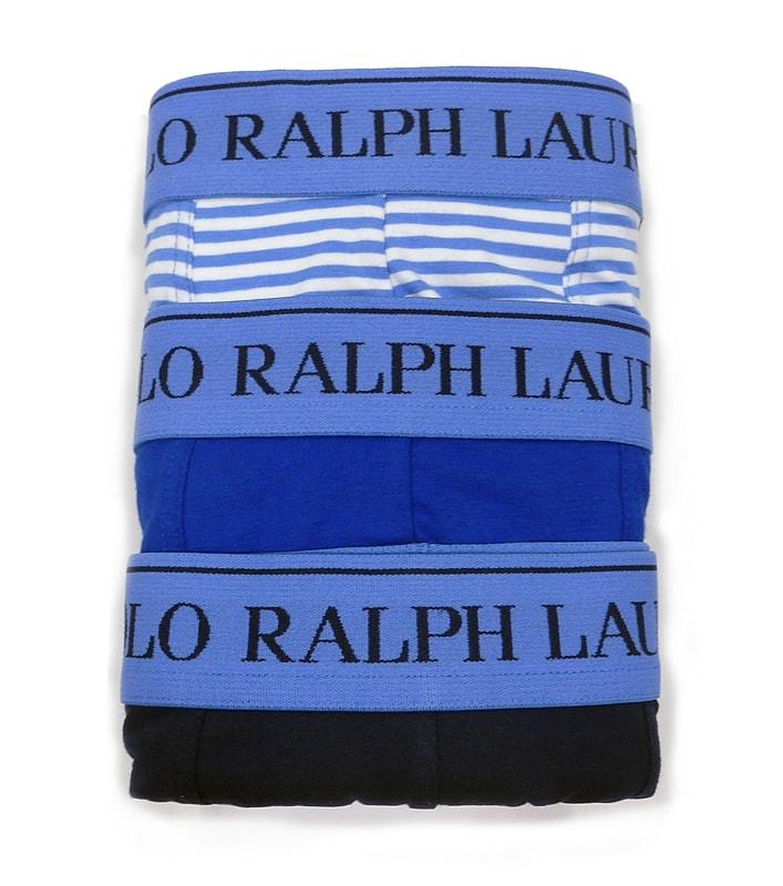 Pack 3 calzoncillos Polo Ralph Lauren tonos Azules