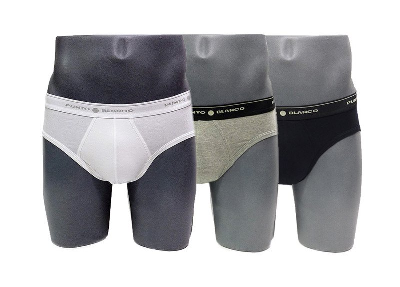 Pack de 3 Slips Punto Blanco Basix