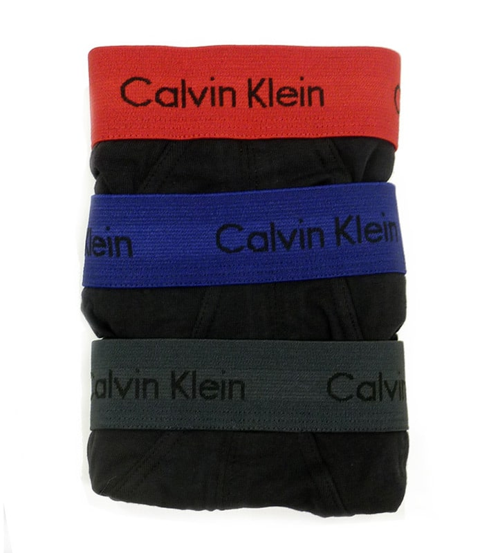 Pack de 3 Slips Calvin Klein algodón negros