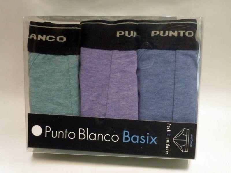 Pack de 3 Slips Punto Blanco