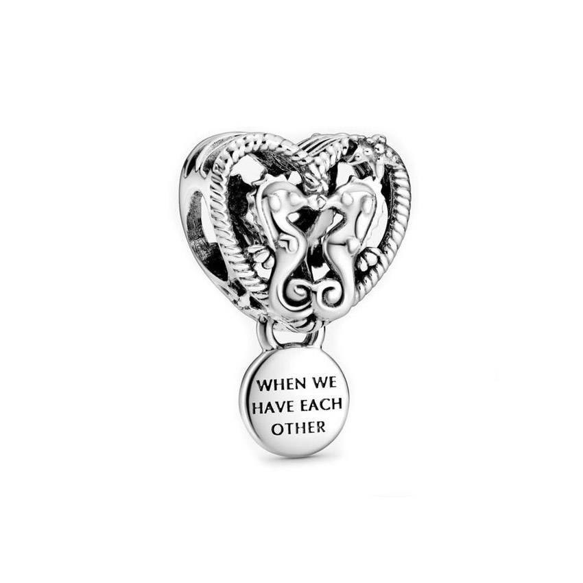 Charm Corazón de Caballitos de Mar Pandora