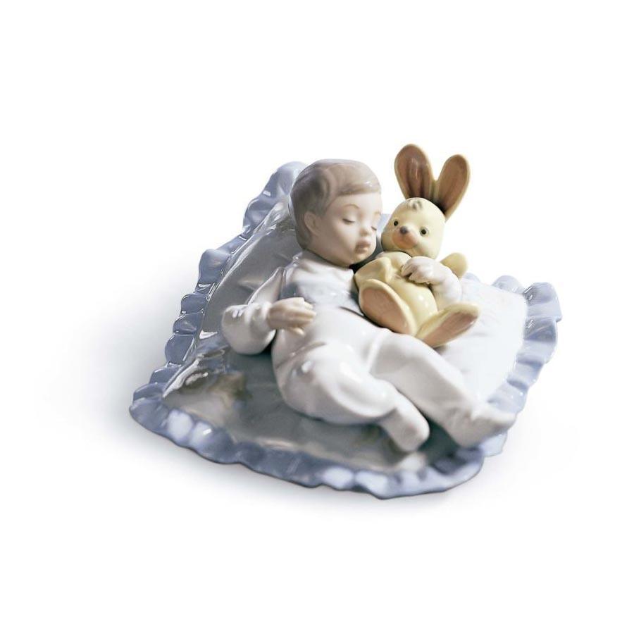 Lladró bebé soñando juntos