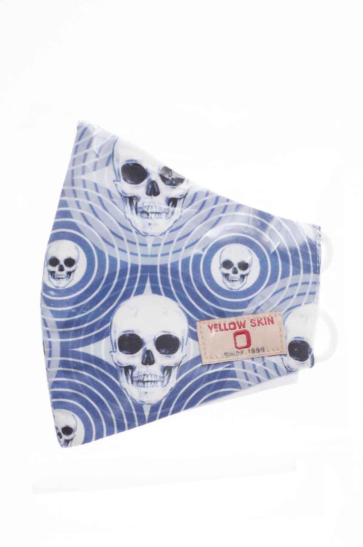 Mascarilla infantil higiénica reutilizable calaveras azul