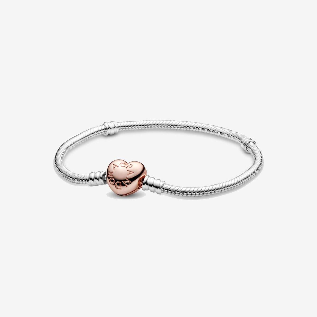 Pandora pulsera Moments cierre corazon Rose 580719