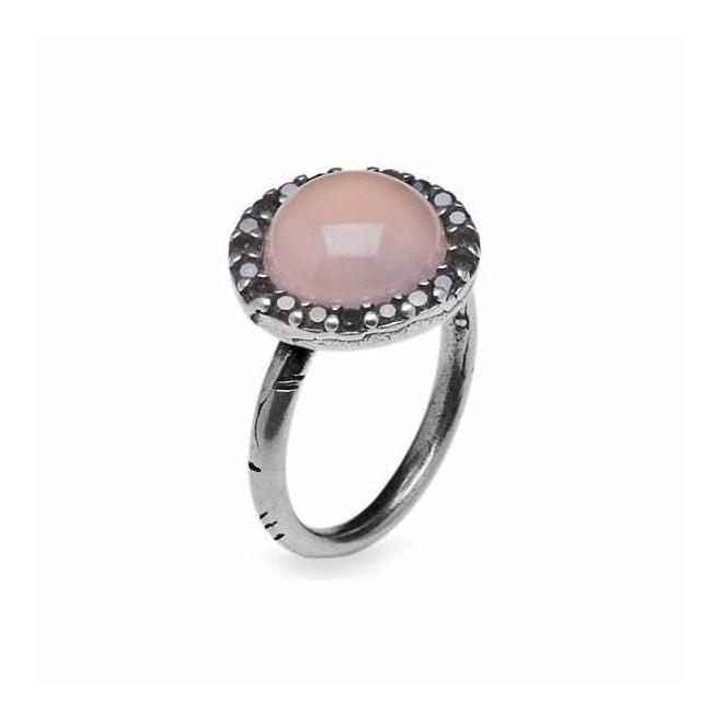 Sortija PlatadePalo de plata con piedra rosa Circoni CR5A