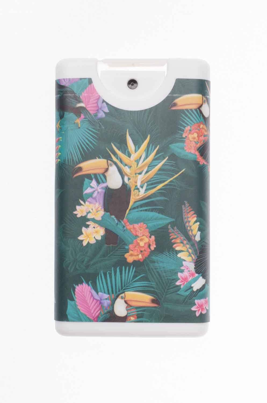 Spray hidroalcohólico de bolsillo Rellenable Tucán tropical