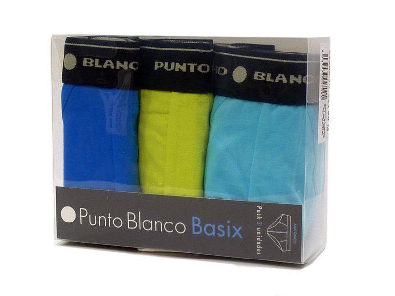 Pack de 3 para Hombre Punto Blanco Triplo Slip Basix Slips