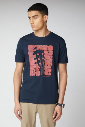 Camiseta Ben Sherman Guitar Head tee navy