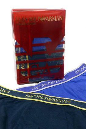 Caja Regalo 2 calzoncillos boxers Emporio Armani Oro y Plata