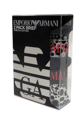 Comprar Pack de 2 Slips Emporio Armani topos online