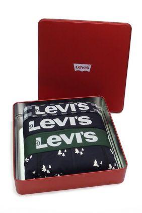 Pack 3 Bóxers Levis edición especial Navidad verde