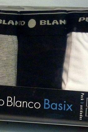 Comprar Pack 3 calzoncillos Punto Blanco Basix Colores Básicos