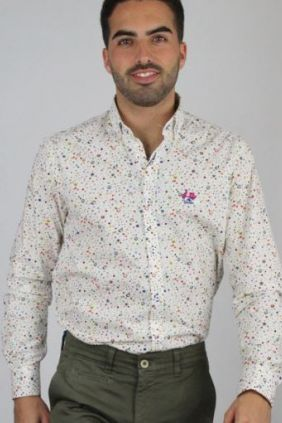 Camisa estampada multicolor