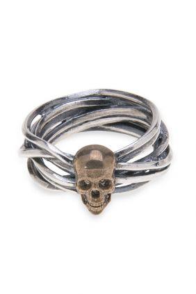 Anillo PlataDePalo Skull Leigh SR001X