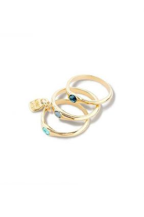 Comprar online Anillo HAPPY BLUE dorado UNOde50 ANI0678AZUORO