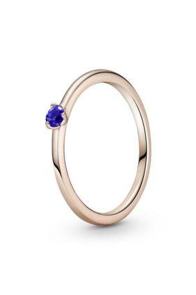 Anillo Pandora Rose Solitario Azul Estelar