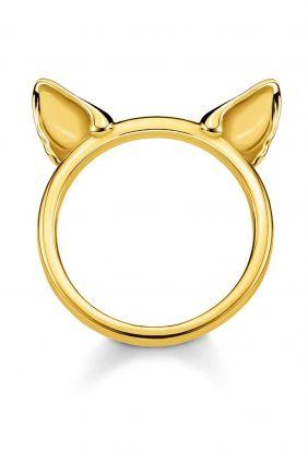 Thomas Sabo Anillo orejas de gato oro, que araña sin compasión