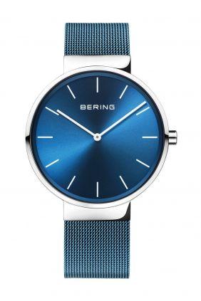 Bering Reloj minimalista Unisex Esfera azul