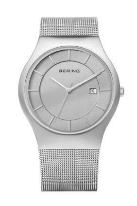 Reloj Bering minimalista unisex esfera gris