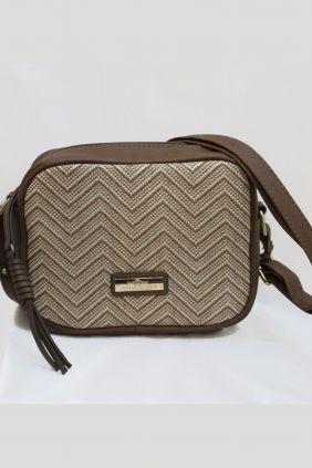 Bolso/bandolera Charro rectangular marrón