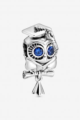 Pandora Charm en plata de ley Buho Sabio