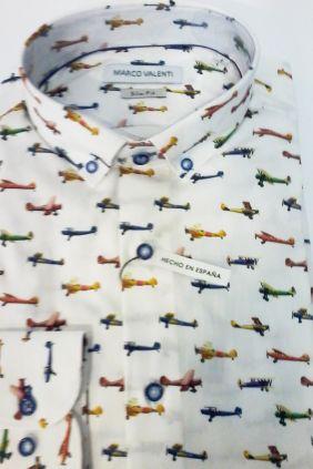 Camisa Marco Valenti Aviones