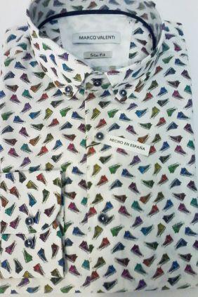 Camisa Marco Valenti estampado Zapatillas