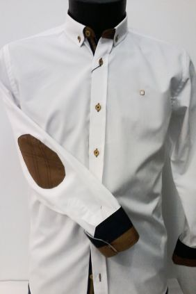 Camisa Slim Fit Yellow Skin blanca