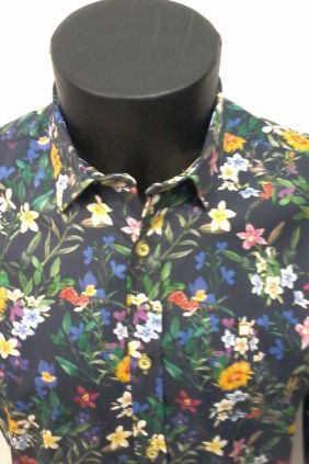 Camisa Yellow Skin estampado flores
