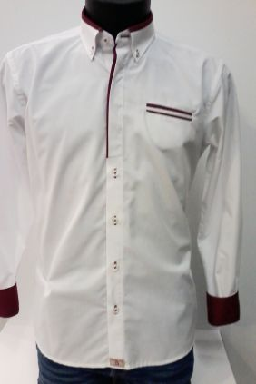 Camisa Yellow Skin slim fit blanca