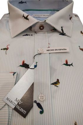 Camisa casual modern fit Aves