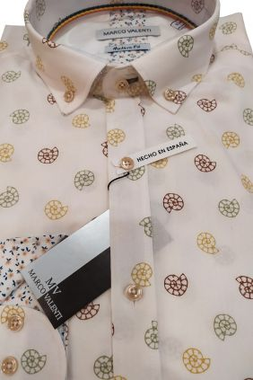 Camisa casual modern fit caracoles