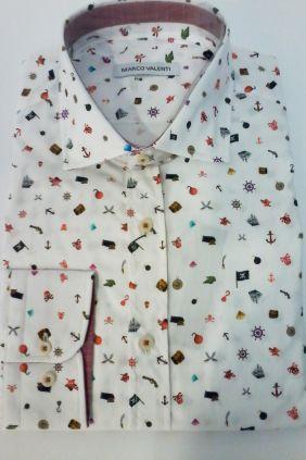 Camisa slim fit Marco Valenti
