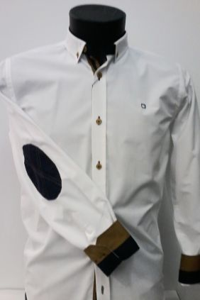 Camisa slim fit coderas Yellow Skin