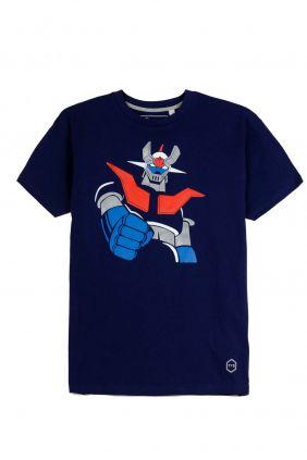 Comprar online Camiseta Puños Fuera Mazinger Z en Marino hombre