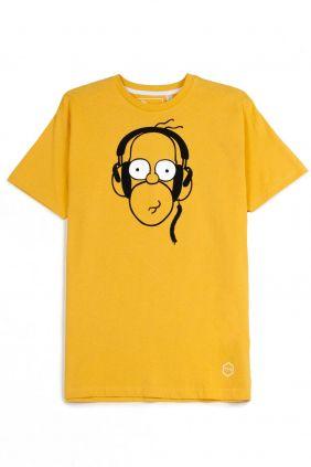 comprar online Camiseta Homer Simpson en amarillo hombre