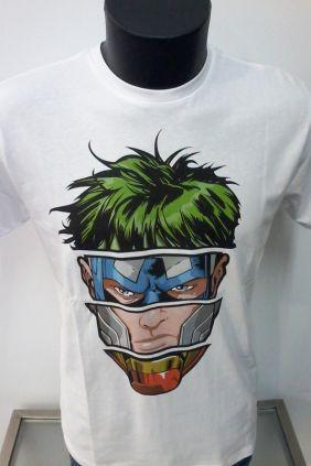 Camiseta blanca Liga de la justicia