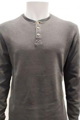 Camiseta panadera estructura en gris de Nomak para hombre