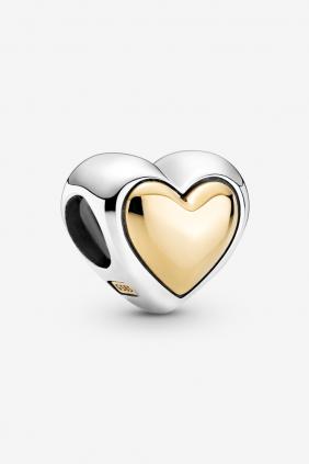 Charm Corazón de Centro Dorado Pandora